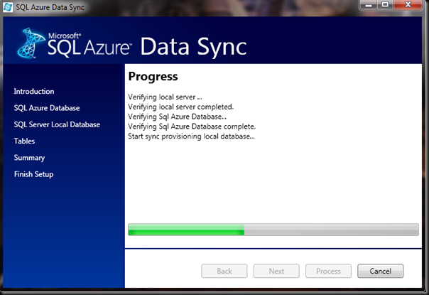 SQL-Azure-Data-Sync-Process