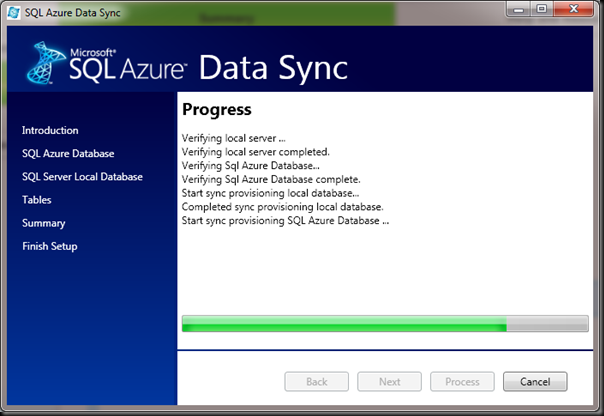 SQL-Azure-Data-Sync-Progress