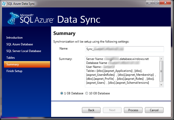 SQL-Azure-Data-Sync-Summary