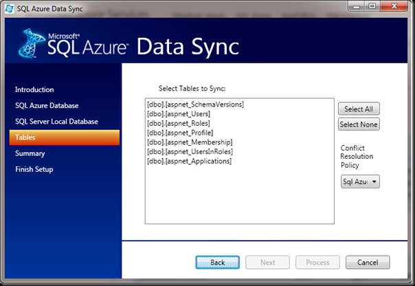 SQL-Azure-Data-Sync-Tables