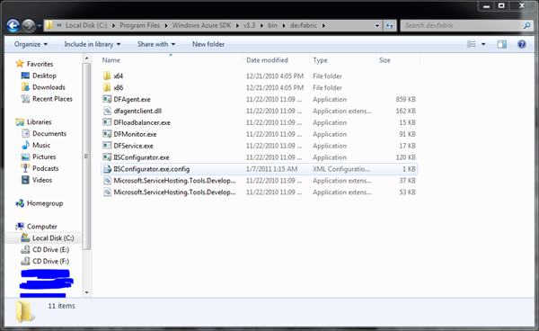 WindowsAzureSDK13DevFabricFolder