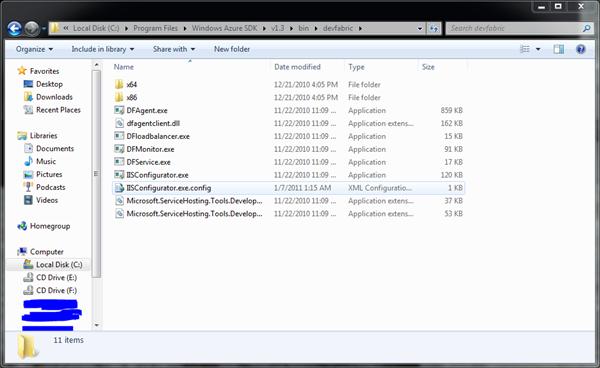 WindowsAzureSDK13DevFabricFolder