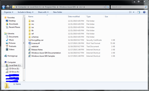 Windows Azure SDK 1.3